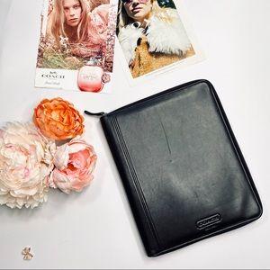 Coach Portfolio Tech Tablet Black Leather Case